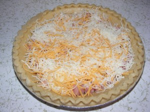 cheese in quiche