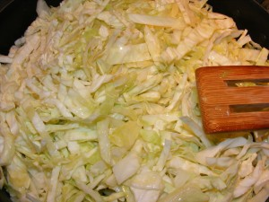 frying cabbage