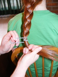 Securing Braid with a Band
