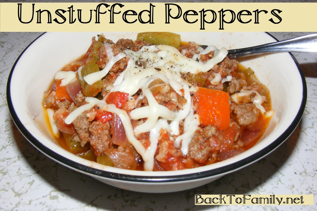 Unstuffed Peppers | BackToFamily.net