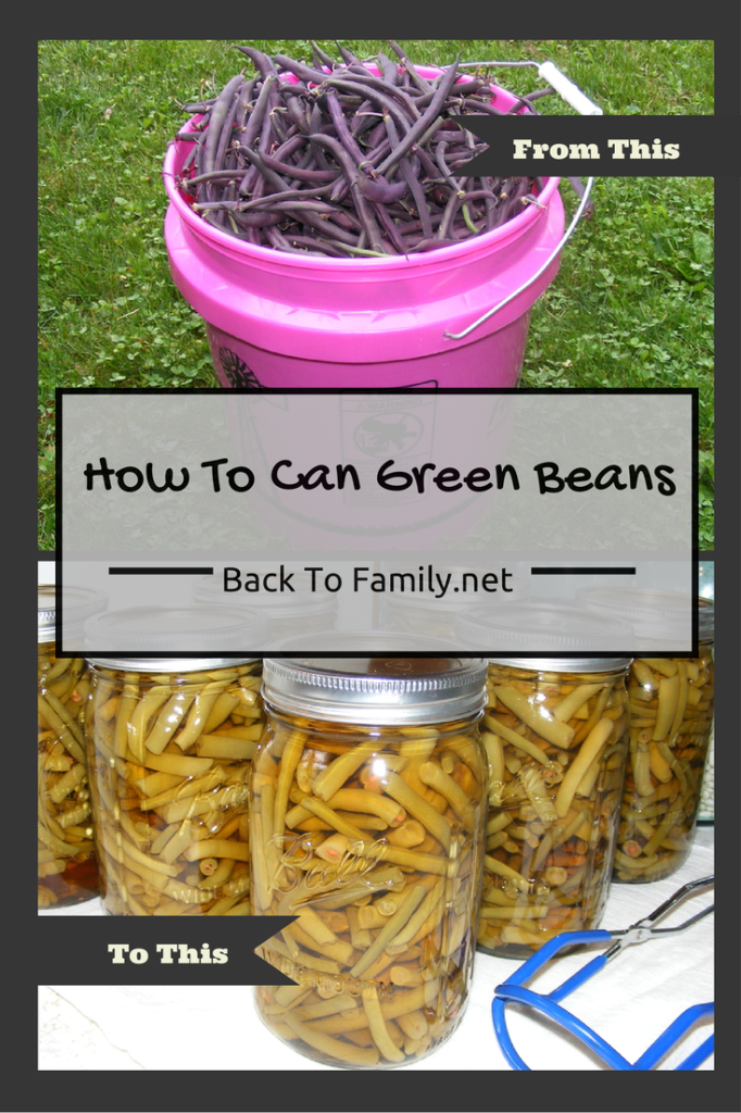 How To Can Green Beans~ backtofamily.net