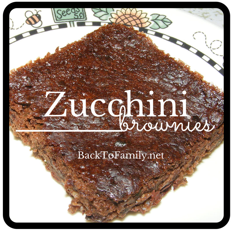 Zucchini Brownies~ backtofamily.net