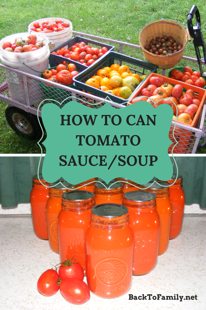 How To Can Tomato Sauce/Soup  BackToFamily.net