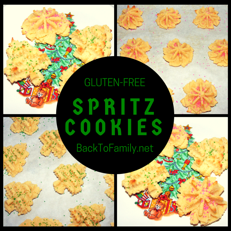 Gluten-Free Spritz Cookies~ BackToFamily.net