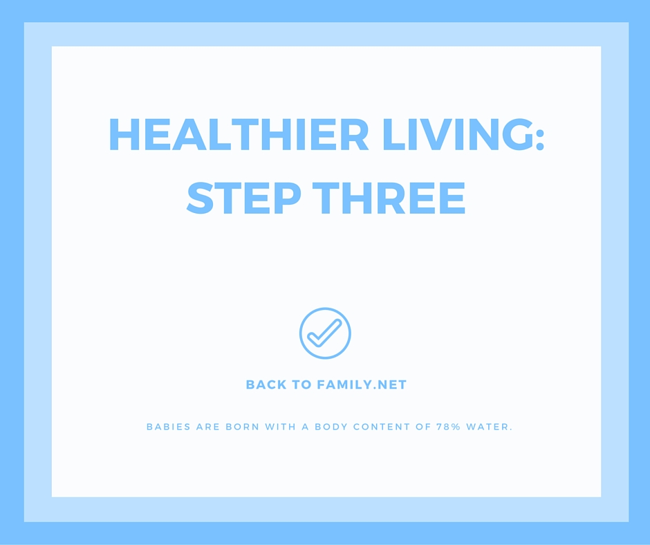 Healthier Living: Step Three with BacktoFamily.net