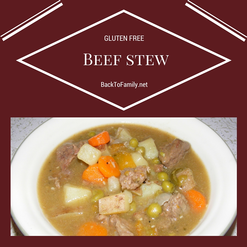 GLUTEN FREE Beef Stew with BackToFamily.net